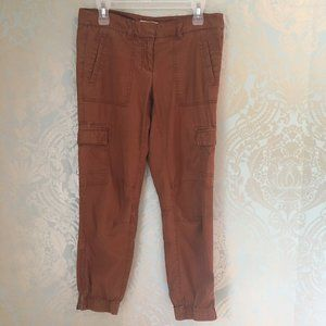 LOFT Utility Cargo Jogger Pants Burnt Orange